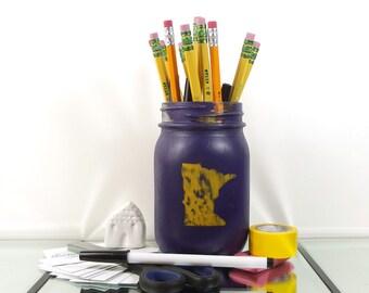 Minnesota Home, Office Desk Accessories, Rustic Office Decor, State Pride,  Rustic Mason