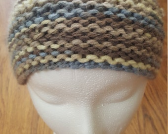 Kid's blue and brown beanie