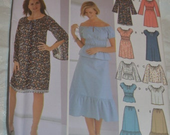 Simplicity 5588 Misses Dress or Top and Skirt Sewing Pattern - UNCUT - Sizes 6 8 10 12