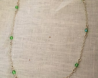 Sterling silver and Lime green Necklace!