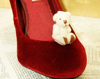 Cute TEDDY BEAR Shoe Clips