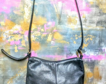 Vintage Accessories, Handbag Black Leather Shoulderbag