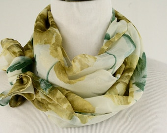 Vintage Yellow Rose of Texas Oblong Scarf