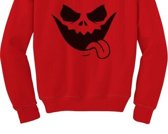 Jack O' Lantern Pumpkin Face Halloween Sweatshirt