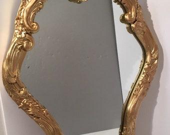 """Ornate Romantic Antique Gesso & Wood Accent Mirror 24 1/2"""" x 16"""""""