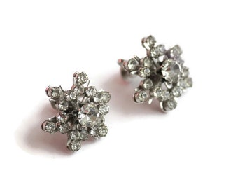 Coro Rhinestone Screw Back Earrings