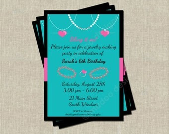 Jewelry Making Party Invitation - Printable