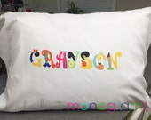 Personalized PRINCESS LETTER NAME Pillow Case | Customize Any Name |  Standard Twin, Full, Queen, or King Pillow | by Mad About Monograms