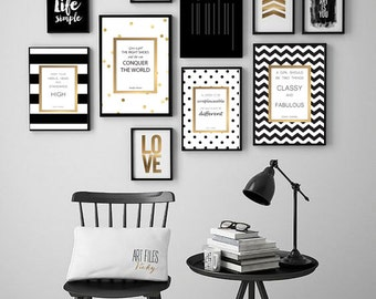 Kate Spade Inspired Artwork Quotes - Digital Print Download 10 Pcs