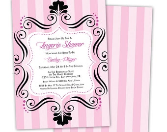 Bachelorette Party / Lingerie Shower Printable Invitation