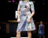 Coxa - Galaxy print knit dress
