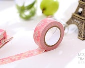 """Pink Sakura Cherry Blossom Washi Tape - 5/8"""" x 11 yd (15 mm x 10 m) - paper tape by Miss Time"""