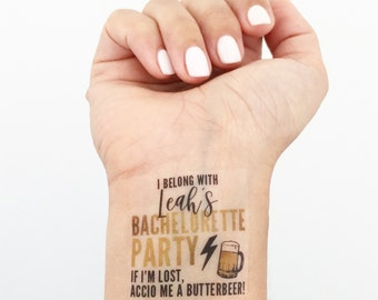 15 Custom Bachelorette Party Temporary Tattoos- Harry Potter