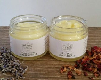 Natural Beauty Face Cream Set, Bath Gift Set, Gifts for Her, Gift Sets for Women, Bath and Body, Natural Skin Care, Natural Moisturizer