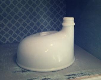 Vintage Milk Glass Juicer Attachment