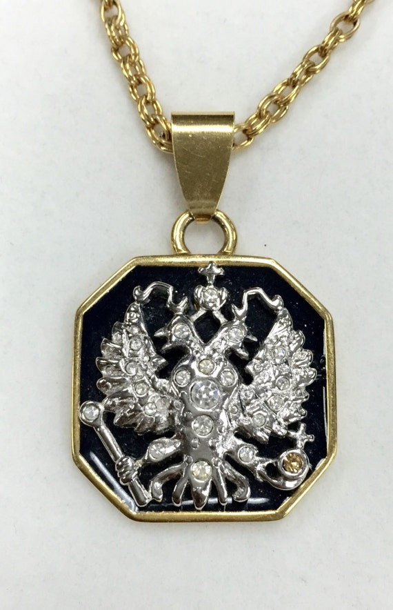 Joan rivers imperial eagle pendant necklace for Joan rivers jewelry necklaces
