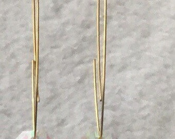 Glass multi color earring