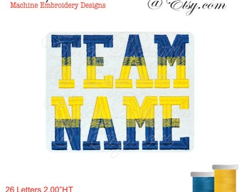 Varsity Letters  Numbers Machine Embroidery Designs Digital Download BX format
