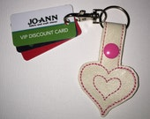 Double Heart Snap Tab for Keys and Bags