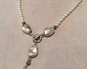Baroque Pearl Y Necklace