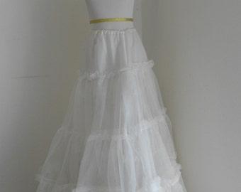 SALE Vintage white petticoat crinoline ruffles ballgown prom wedding