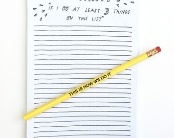 to do list notepad - notepad - to do list - hand lettered notepad - to do notepad - notepads with sayings