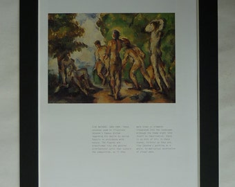 Paul Cezanne Print, Available Framed, Nude Art, Post-Impressionist Picture Post Impressionism Decor Study of Bathers Wall Art Skinny Dipping