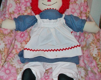 Huge Vintage Raggedy Ann Rag Doll Classic Retro Cloth Toy