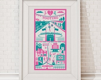 Tooting print / London illustration