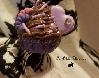 Sweet Lolita Cupcake Ring 30 Choco Lavender
