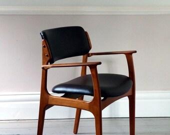 Vintage Mid-Century Danish Leather Chair