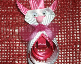 Bunny (Pink & White) Hair Clip