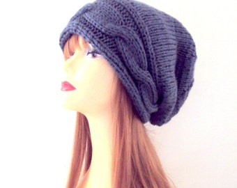 Slouchy Beanie Cable Knit Hat Dreadlock Hat Women Men Teen to Adult Knit Baggy Hat Buy 3 or more items get 15% Discount! at checkout!