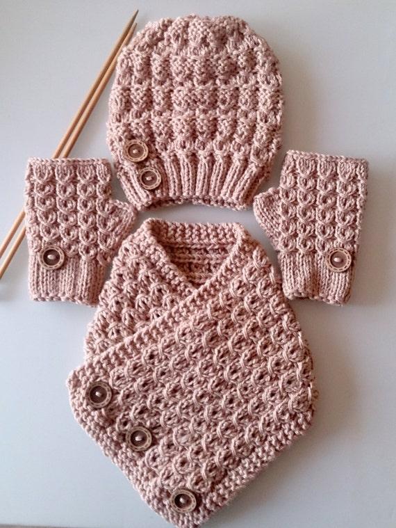 Knitting Gift Set : Kids gift set knit hat scarf neckwarmer