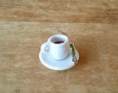 Miniature Coffee Mug - Fairy Garden Accessories, Terrarium Supplies, Dollhouse Miniatures