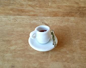 Miniature Coffee Mug - Fairy Garden Accessories, Terrarium Supplies, Dollhouse Miniatures