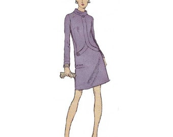 70s Vogue Paris Original dress sewing pattern by Pierre Cardin, 2307, factory folded, Bust 32.5 inches