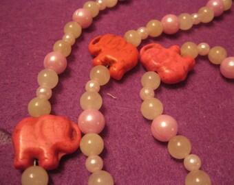 PINK ELEPHANTS JEWELRY Set
