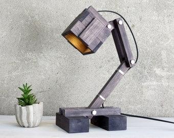 Wooden Lamp Kran XII Adjustable Night Light Desk Decor