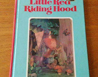 Vintage Puppet Story Book Little Red Riding Hood 3D Hologram/Shifting Picture Cover