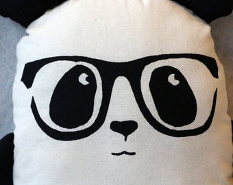 Geek Chic Panda Plush Toy with Glasses