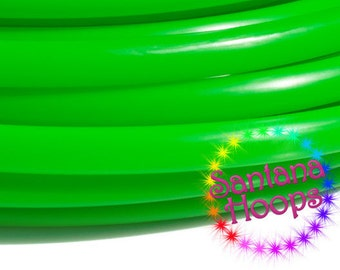 5/8 Mini Twins UV Green Polypro Hula Hoop Minis