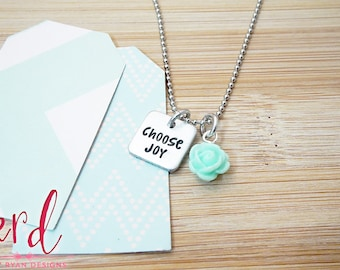 Choose Joy Necklace | Daily Reminder | Inspiration | Hand Stamped