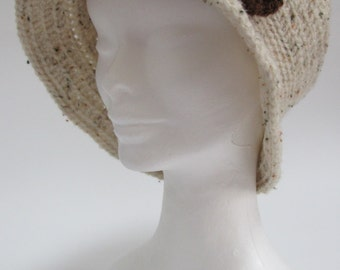 Aran Tweed  Cloche Hat