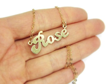 Sterling silver gold plated name necklace. Gold name necklace. Name necklace. Personalized name necklace. Personalized jewelry. gift for her