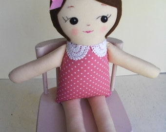 Handmade Classic Ragdoll - Cloth doll plush toy - Made to Order