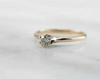 Stunning Old Mine Cut Diamond Solitaire Engagement Ring  7D0V0P-R