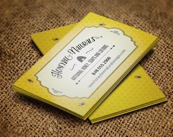 Honeycomb Bee Apiary Business Card, Printable PDF or JPG