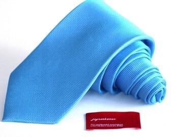 Silk Tie (3 inch) Tonal Malibu Blue Tie
