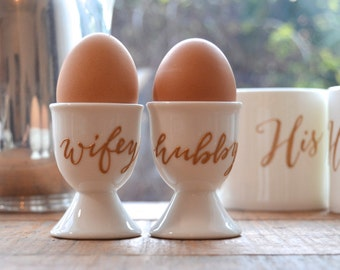 Wifey / Hubby Bone China Egg Cup